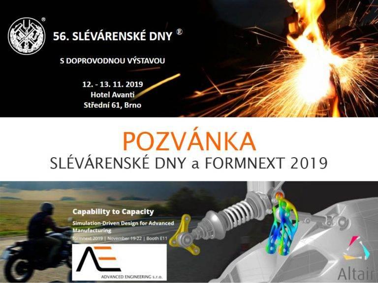 Slévárenské dny & Formnext 2019