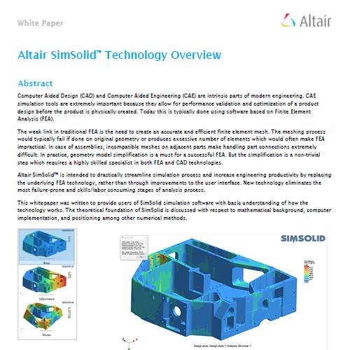 Altair SimSolid – Technology Overview