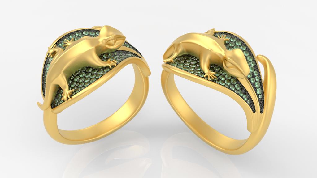 Inspire Studio: Geko Ring by Luca Palmini - Row Design