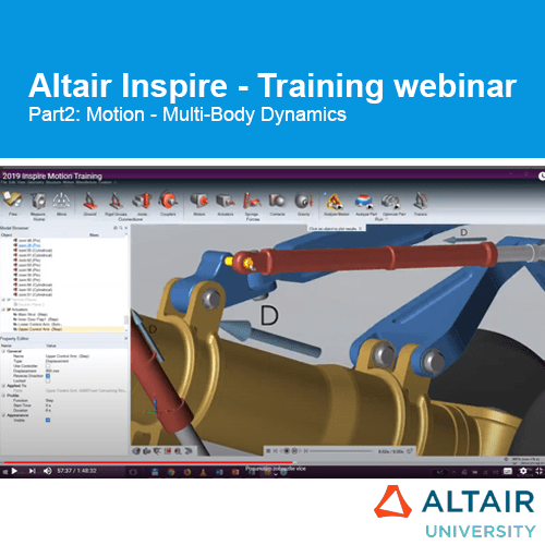 Altair Inspire: Training Webinar Part2 – Motion