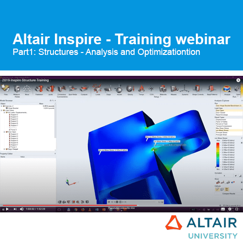 Altair Inspire: Training Webinar Part1 – Structures