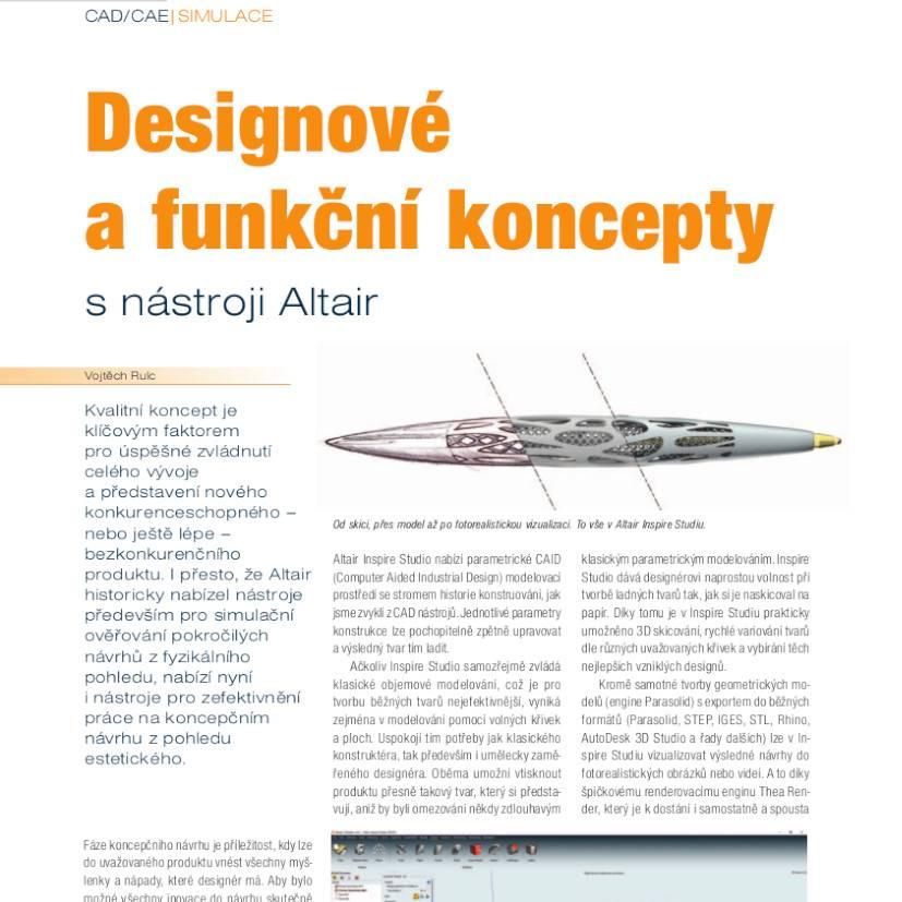Designové afunkční koncepty snástroji Altair
