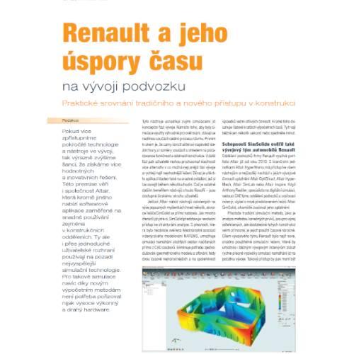 Renault ajeho úspory času na vývoji podvozku