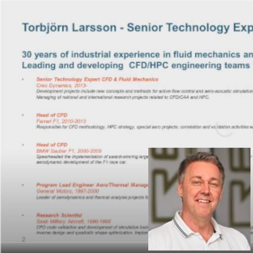 Recording of an on-line conference ATCx CFD 2020 – Torbjörn Larsson answers questions
