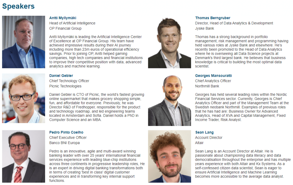 The Next Generation Data Scientist - webinar speakers