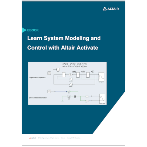 eBook: Learn Basics of System Modeling and Control Systems with Altair Activate