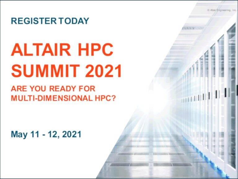 ALTAIR HPC VIRTUAL SUMMIT 2021