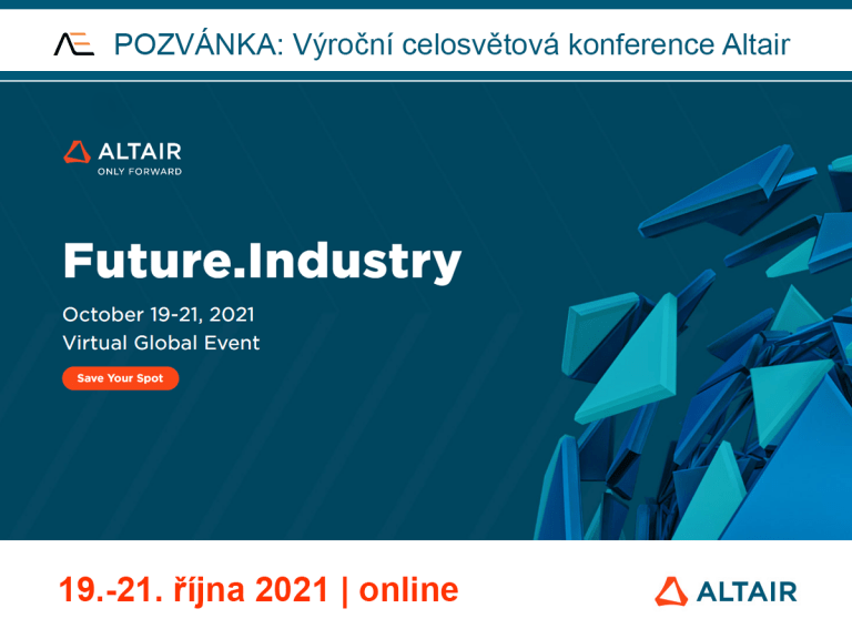 ALTAIR Global Conference Future.Industry 2021